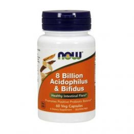 NOW 8 Billion Acidophilus & Bifidus 60 caps